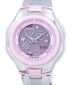 Casio Poptone World Time Analog Digital LCF-10D-4AV LCF10D-4AV Women's Watch