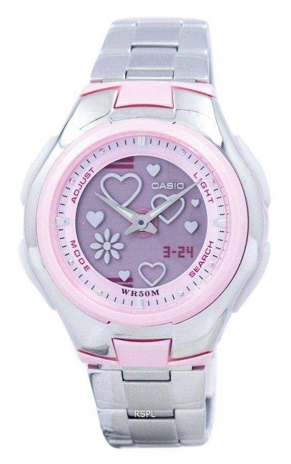 Casio Poptone World Time Analog Digital LCF-10D-4AV LCF10D-4AV Women's Watch 1