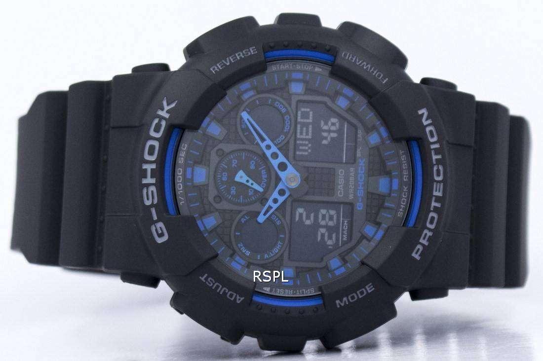 Casio G Shock World Time Alarm Ga 100 1a2 Watch 100l 1a