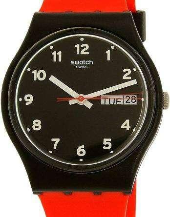 Swatch Originals Red Grin Quartz GB754 Unisex Watch