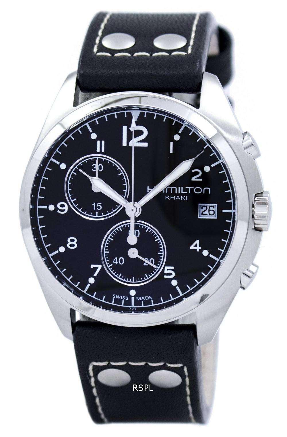 Hamilton Khaki Aviation Pilot Pioneer Chrono Quartz H76512733 Men's Watch