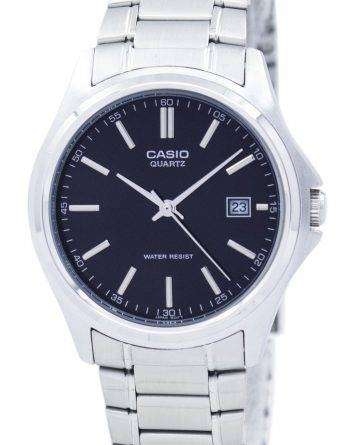 Casio Quartz Analog Stainless Steel Black Dial MTP-1183A-1ADF MTP-1183A-1A Mens Watch