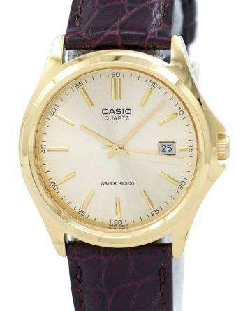 Casio Quartz Analog Gold Dial MTP-1183Q-9ADF MTP-1183Q-9A Mens Watch