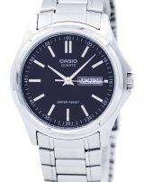 Casio Enticer Quartz Analog Black Dial MTP-1239D-1ADF MTP-1239D-1A Mens Watch