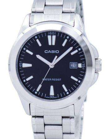 Casio Quartz Analog Black Dial Stainless Steel MTP-1215A-1A2DF MTP-1215A-1A2 Mens Watch