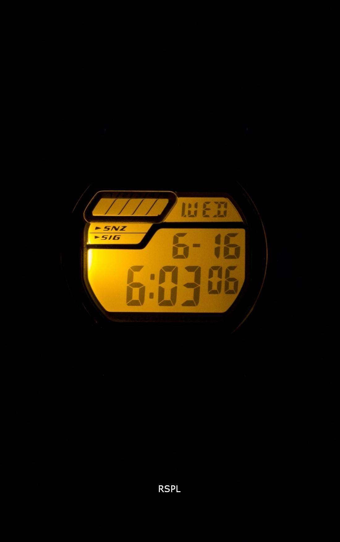 Casio Digital 5 Alarms Illuminator W-212H-1AVDF W-212H-1AV Mens Watch