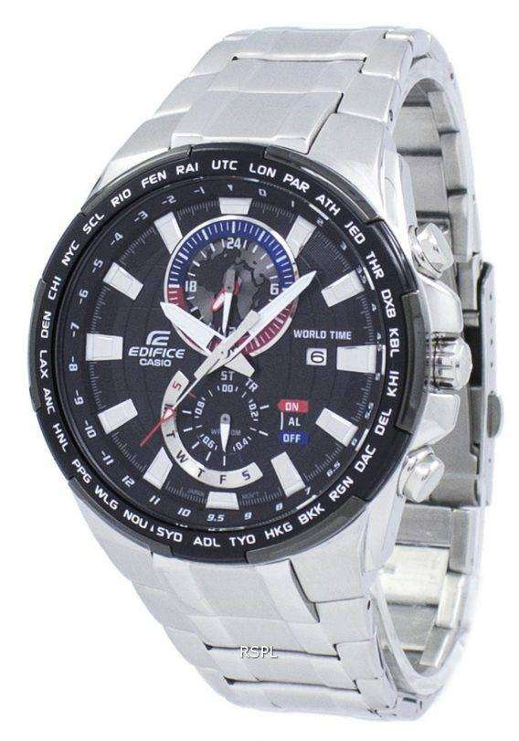 Casio Edifice World Time Quartz EFR-550D-1AV EFR550D-1AV Men's Watch 1