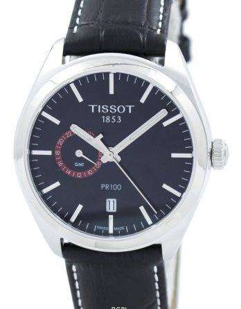 Tissot T-Classic PR 100 Dual Time Quartz T101.452.16.051.00 T1014521605100 Men's Watch