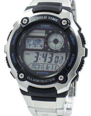 Casio Youth Illuminator World Time Digital AE-2100WD-1AV AE2100WD-1AV Men's Watch