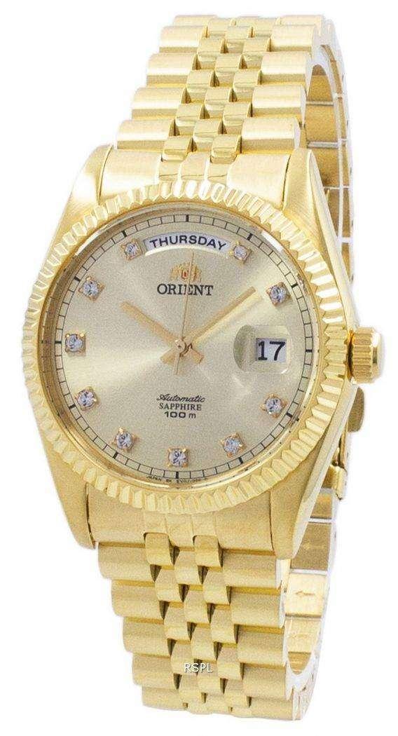 "Orient ""President"" Classic Automatic Diamond Accent EV0J001G Men's Watch 1"
