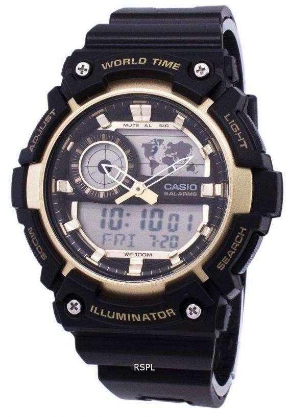 Casio Illuminator World Time Alarm AEQ-200W-9AV AEQ200W-9AV Men's Watch 1