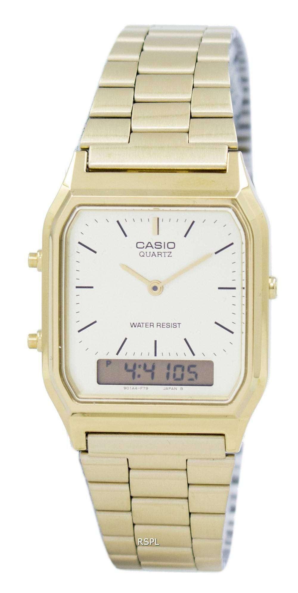 Casio Quartz Analog Digital Gold Tone AQ-230GA-9DMQYES Mens Watch
