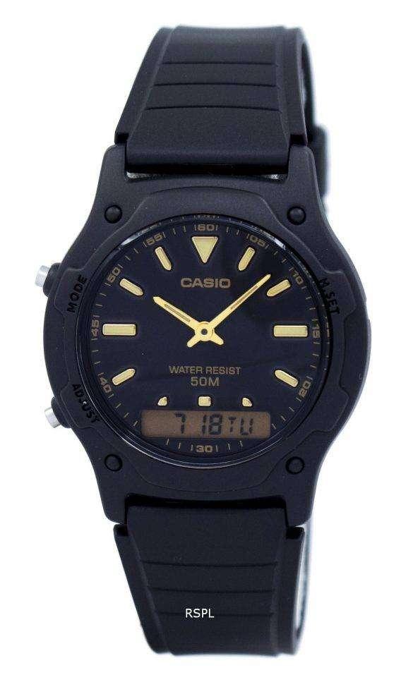 Casio Analog Digital Quartz Dual Time AW-49HE-1AVDF AW-49HE-1AV Mens Watch 1