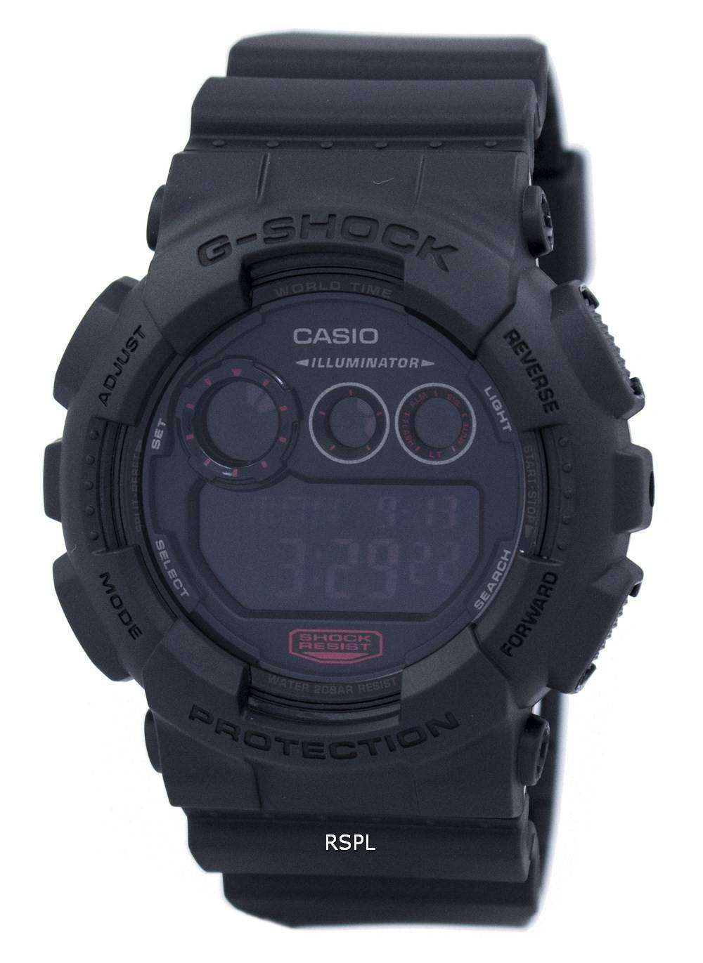 Casio G-Shock Illuminator World Time GD-120MB-1 Mens Watch