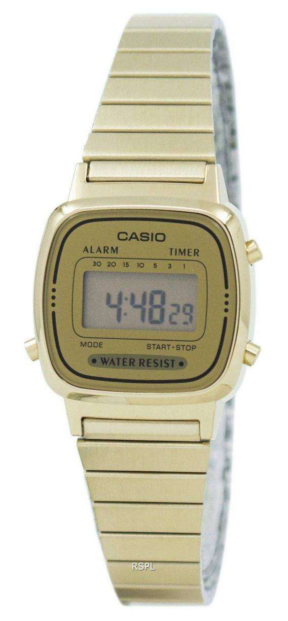 Casio Digital Stainless Steel Alarm Timer LA670WGA-9DF LA670WGA-9 Womens Watch 1
