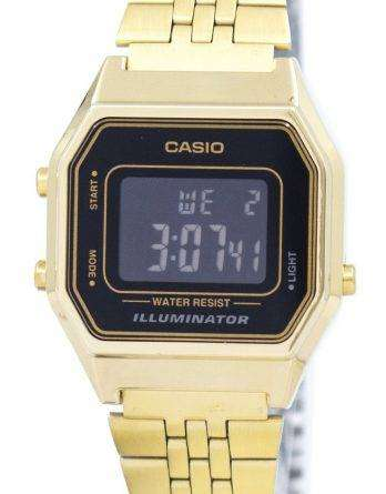 Casio Digital Quartz Stainless Steel Illuminator LA680WGA-1BDF LA680WGA-1B Womens Watch