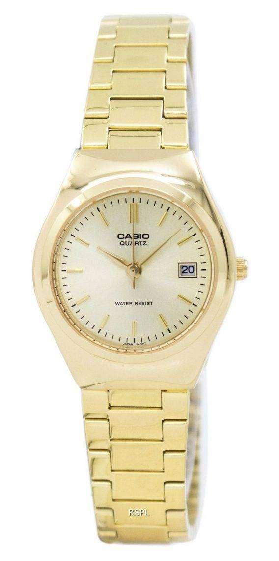 Casio Analog Gold Tone LTP-1170N-9ARDF LTP-1170N-9AR Womens Watch 1