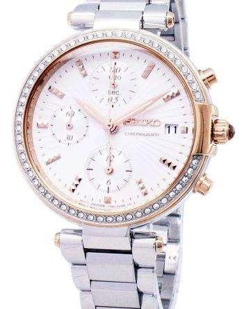 Seiko Chronograph Quartz Diamond Accent SNDV44 SNDV44P1 SNDV44P Women's Watch