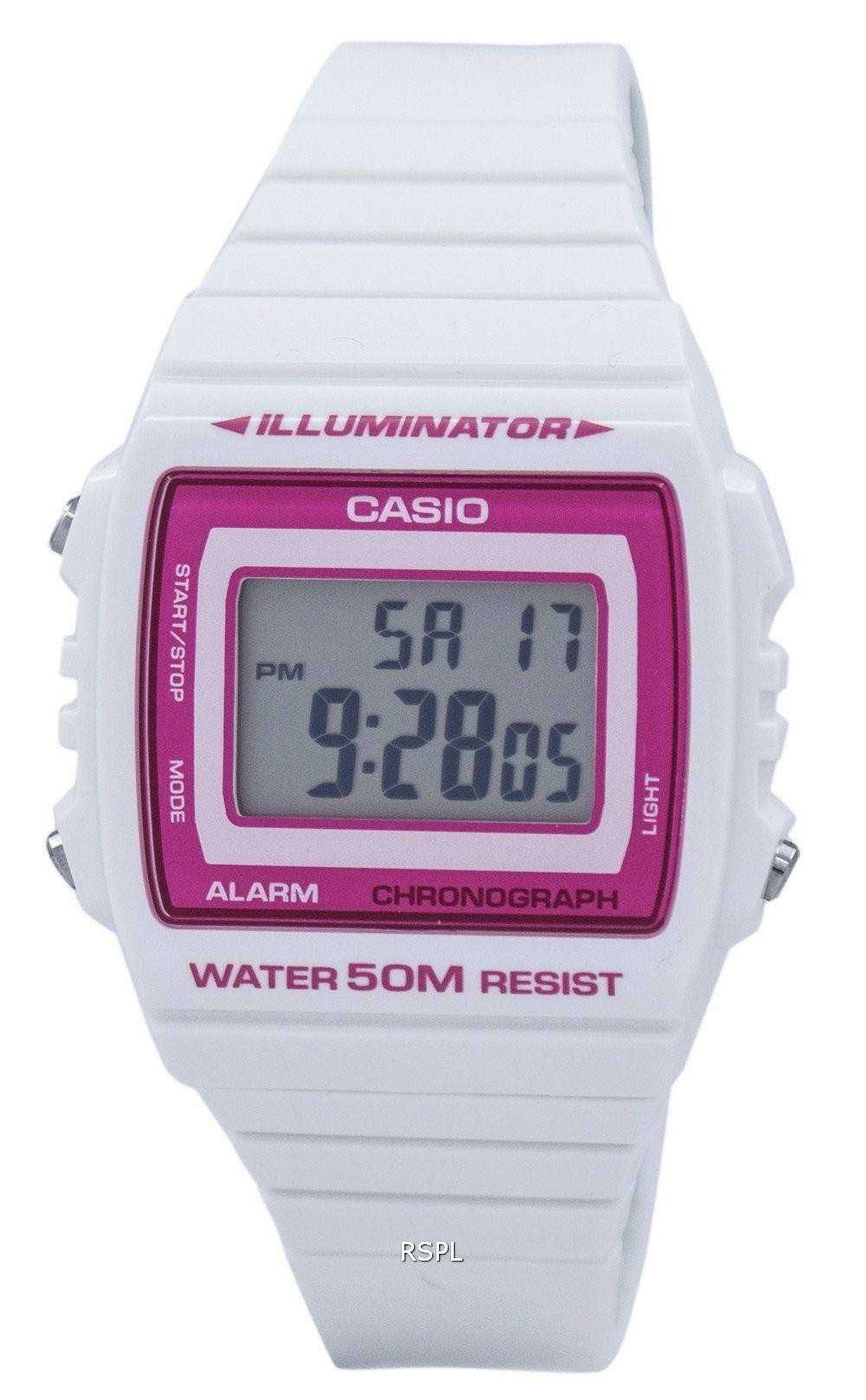 Womens Watches Online Discount India Casio Ltp 1314d 5a Pink Illuminator Chronograph Alarm Digital W 215h 7a2vdf W215h Unisex Watch