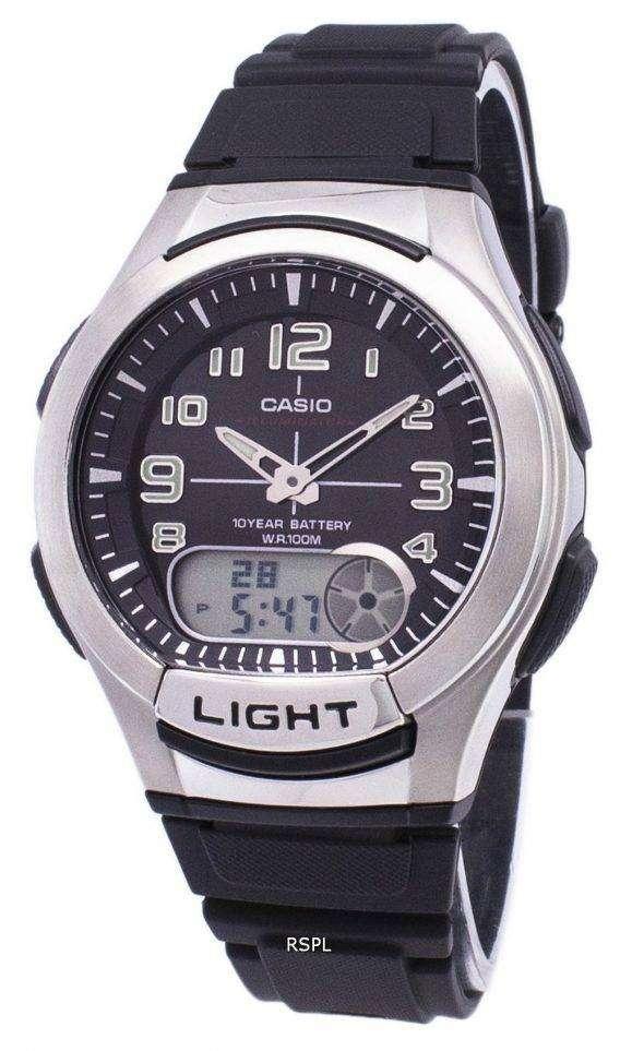 Casio Analog Digital Illuminator Telememo AQ-180W-1BVDF AQ-180W-1BV Mens Watch 1