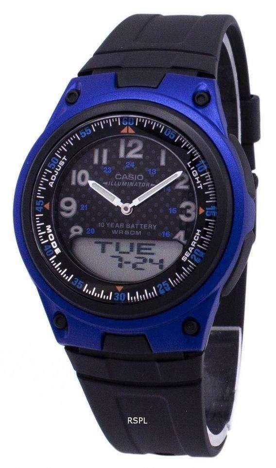 Casio Analog Digital Illuminator Telememo BlackBlue AW-80-2BVDF AW-80-2BV Mens Watch 1