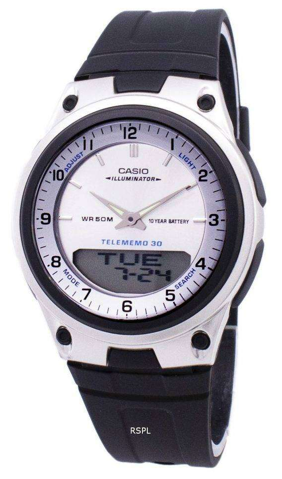 Casio Analog Digital Telememo Illuminator AW-80-7AVDF AW-80-7AV Mens Watch 1