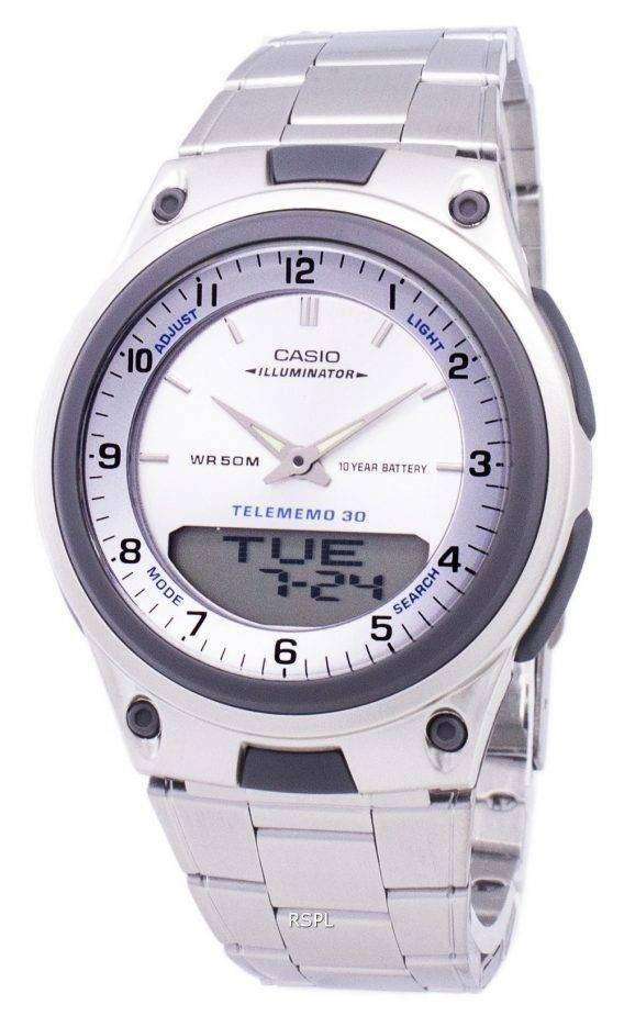 Casio Analog Digital Telememo Illuminator AW-80D-7AVDF AW-80D-7AV Mens Watch 1