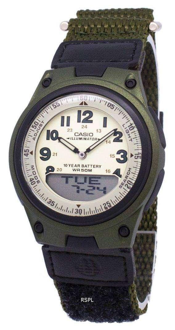 Casio Analog Digital Telememo Illuminator AW-80V-3BVDF AW-80V-3BV Mens Watch 1