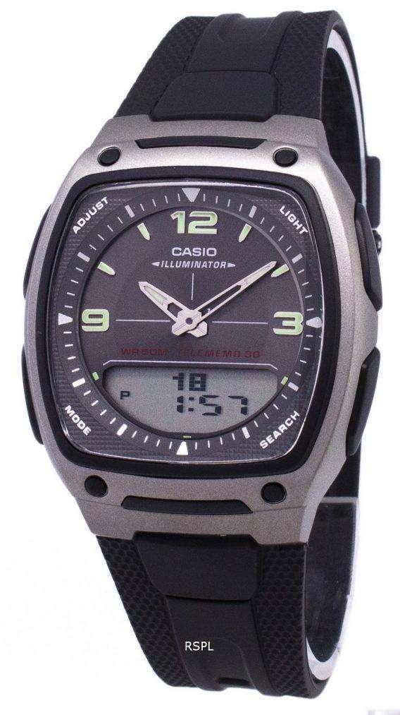 Casio Analog Digital Telememo Illuminator AW-81-1A1VDF AW-81-1A1V Mens Watch 1