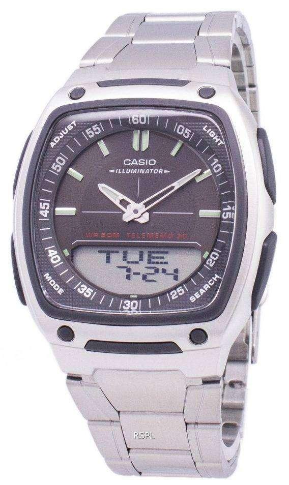 Casio Analog Digital Telememo Illuminator AW-81D-1AVDF AW-81D-1AV Mens Watch 1