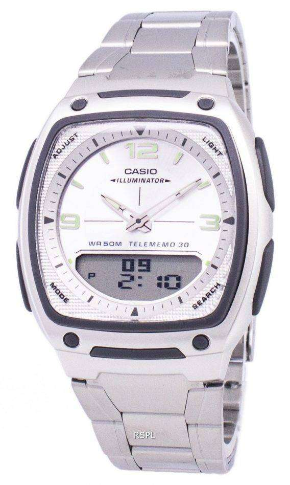Casio Analog Digital Telememo Illuminator AW-81D-7AVDF AW-81D-7AV Mens Watch 1