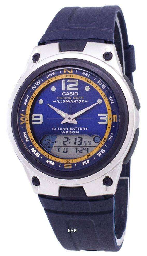Casio Analog Digital Out Gear Fishing Illuminator AW-82-2AVDF AW-82-2AV Mens Watch 1