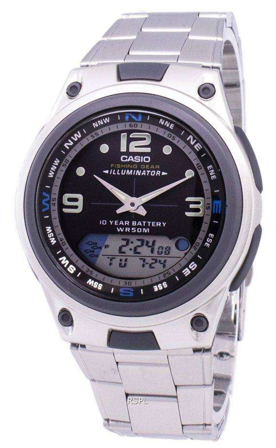 Casio Analog Digital Out Gear Fishing Illuminator AW-82D-1AVDF AW-82D-1AV Mens Watch 1