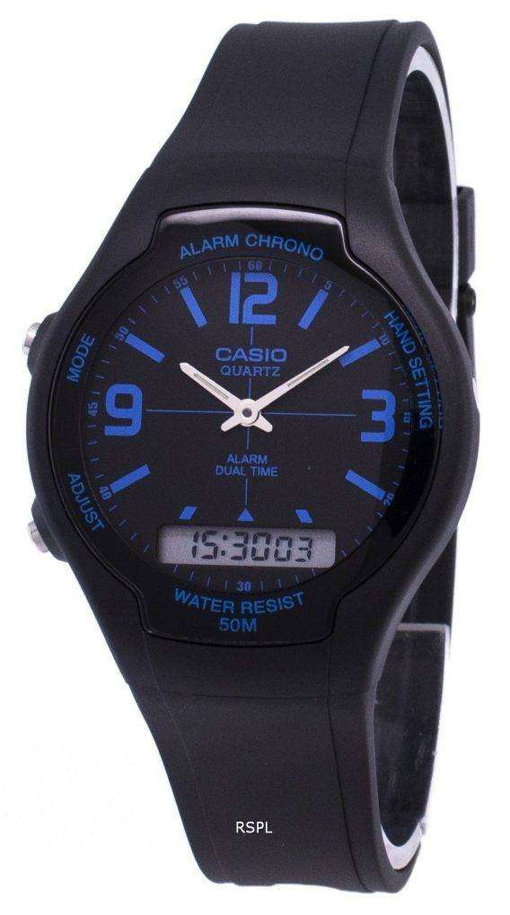 Casio Analog Digital Dual Time AW-90H-2BVDF AW-90H-2BV Mens Watch 1