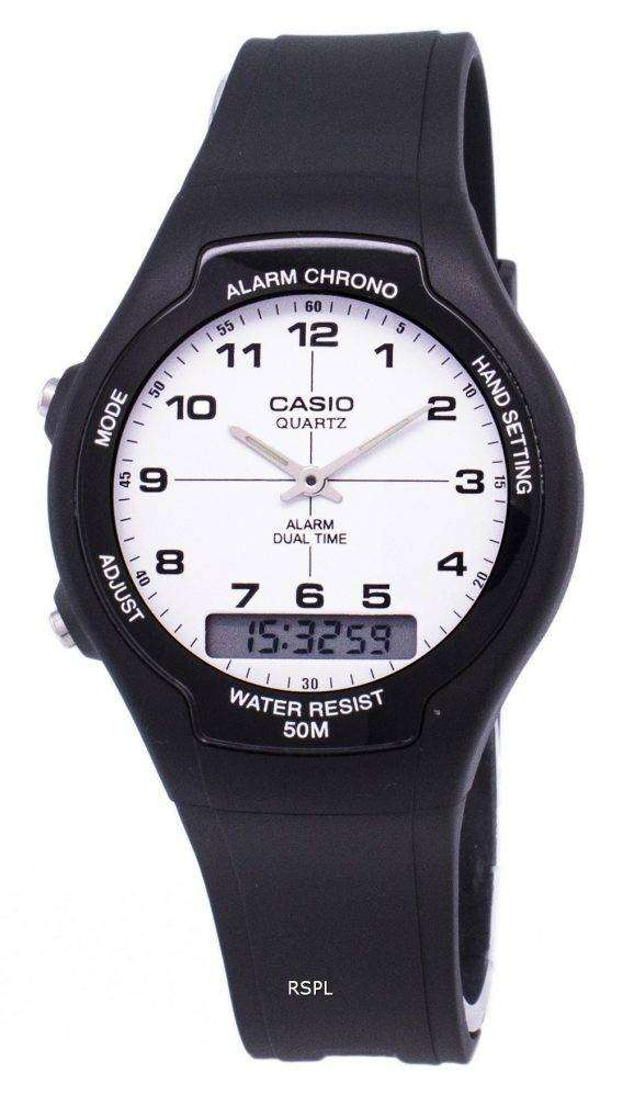 Casio Analog Digital Dual Time AW-90H-7BVDF AW-90H-7BV Mens Watch 1