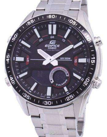 Casio Edifice Alarm Analog Digital Quartz EFV-C100D-1AV EFVC100D-1AV Men's Watch