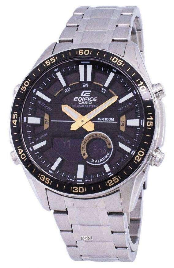Casio Edifice World Time Quartz EFV-C100D-1BV EFVC100D-1BV Men's Watch