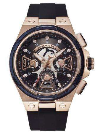 Aries Gold Inspire Lightning Quartz G 7003 2TRB-BKRG Men's Watch