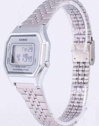 Casio Digital Quartz Stainless Steel Illuminator LA680WA-7DF LA680WA-7 Womens Watch