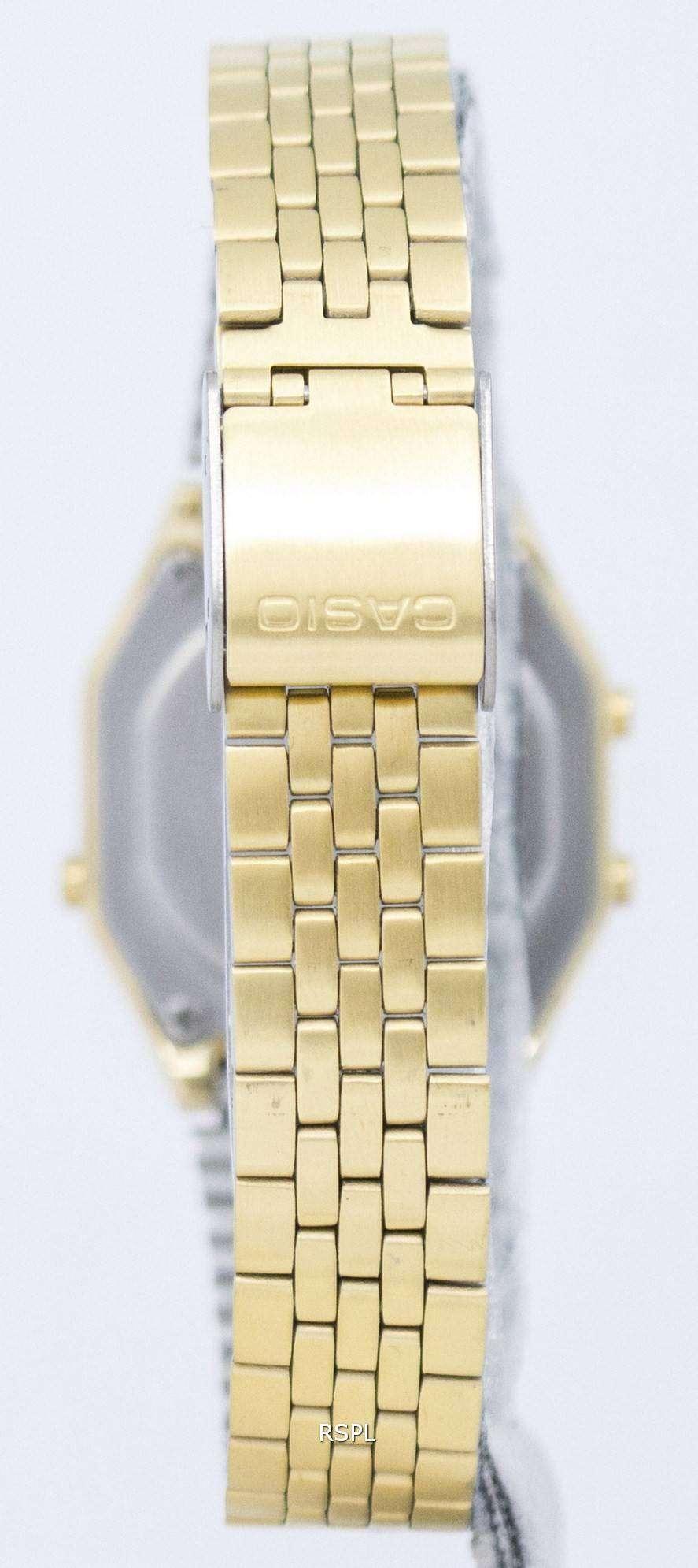 2fe0bd14f Casio Digital Quartz Stainless Steel Illuminator LA680WGA-1BDF LA680WGA-1B Womens  Watch