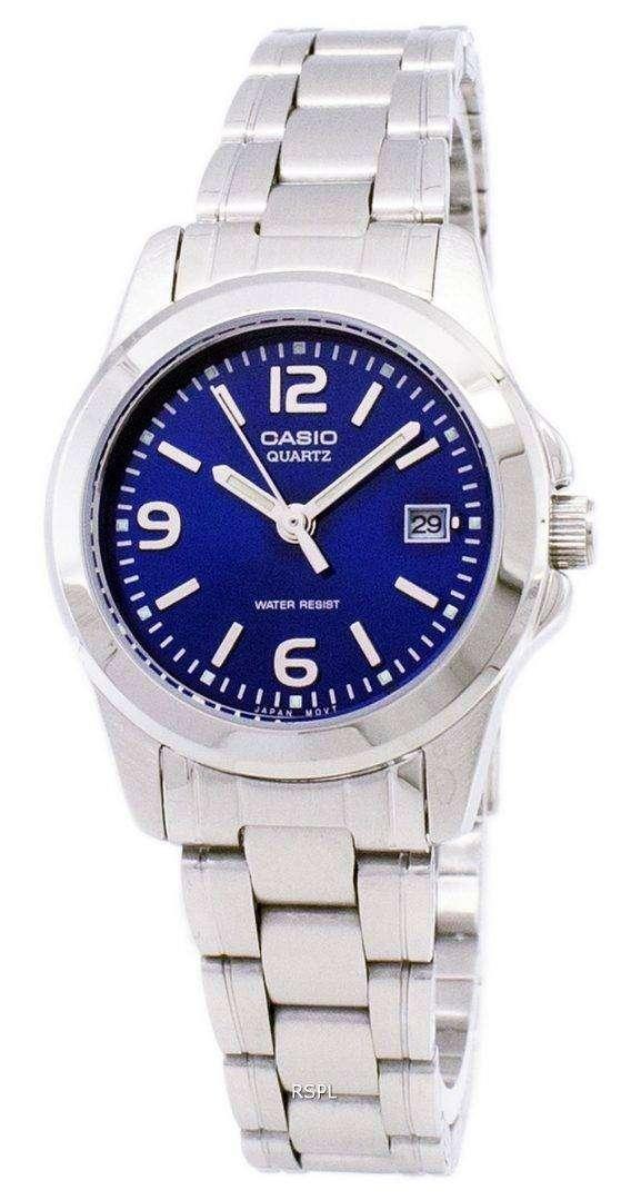 Casio Analog Quartz Blue Dial LTP-1215A-2ADF LTP-1215A-2A Womens Watch 1