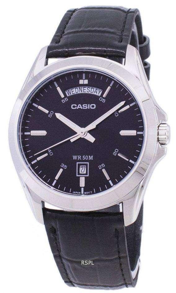 Casio Analog Black Dial MTP-1370L-1AVDF MTP-1370L-1AV Mens Watch 1