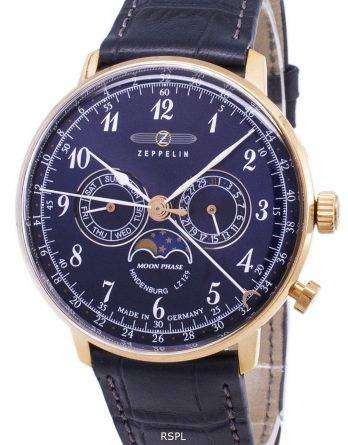 Zeppelin Series LZ 129 Hindenburg Germany Made 7038-3 70383 Men's Watch