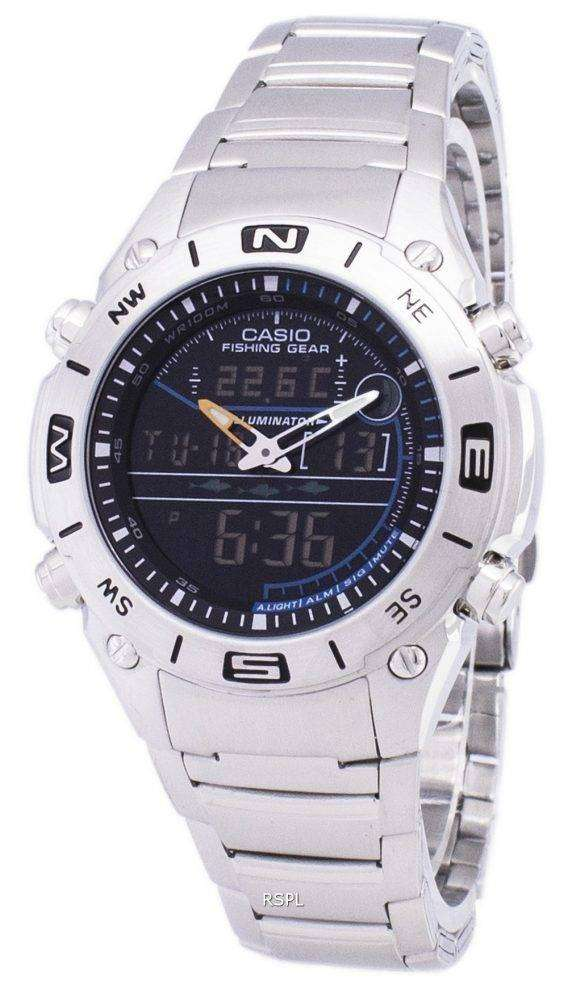 Casio Analog Digital Fishing Gear World Time AMW-703D-1AVDF AMW-703D-1AV Mens Watch 1