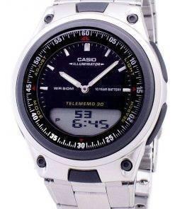 Casio Analog Digital Telememo Illuminator AW-80D-1AVDF AW-80D-1AV Mens Watch