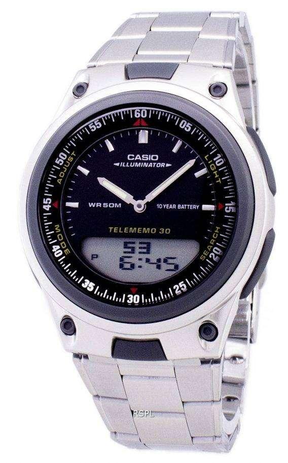 Casio Analog Digital Telememo Illuminator AW-80D-1AVDF AW-80D-1AV Mens Watch 1