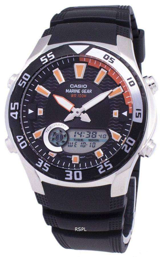 Casio Analog Digital Marine Gear AMW-710-1AVDF AMW-710-1AV Mens Watch 1
