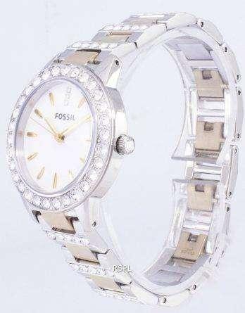 Fossil Jesse Crystal Two-tone Quartz ES2409 Womens Watch