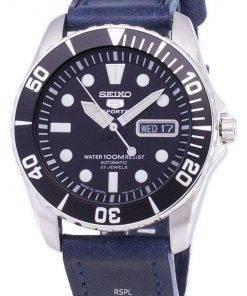 Seiko 5 Sports SNZF17J1-LS13 Automatic Japan Made Dark Blue Strap Men's Watch