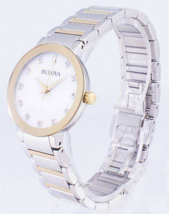 Bulova Modern 98P180 Diamond Accents Quartz Women's Watch